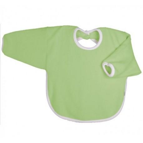 Bavoir coton bio avec manches Vert Pomme