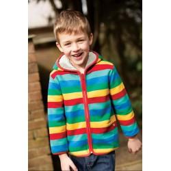 Veste coton bio Réversible Rainbow