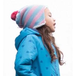 Bonnet + Moufles coton bio Stripy