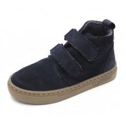 Boots laine cuir marine 33