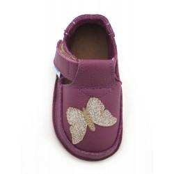 Chaussures souples cuir prune Papillon