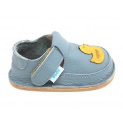 Chaussures souples cuir ciel Poussin jaune