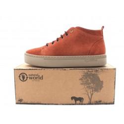 Boots laine cuir caramel