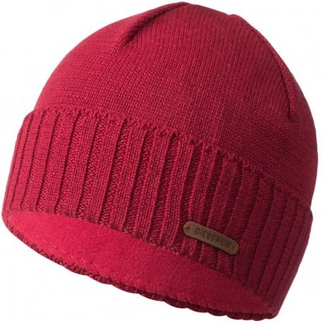 Bonnet laine Mérinos Rouge