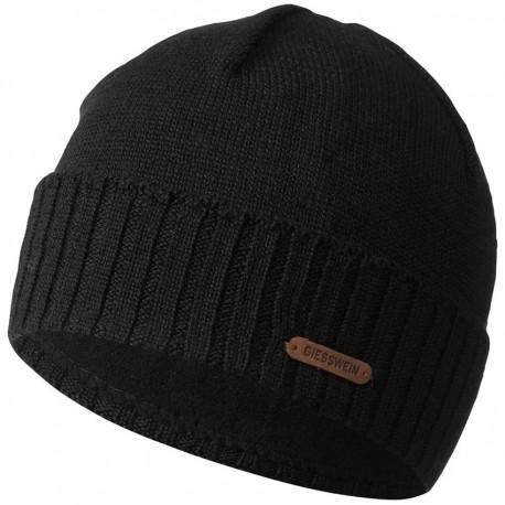 Bonnet laine Mérinos Noir