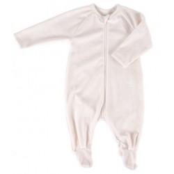 Pyjama coton bio Velours Ecru