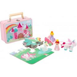 Valise puzzle licorne