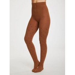 Collants bambou Caramel Pois