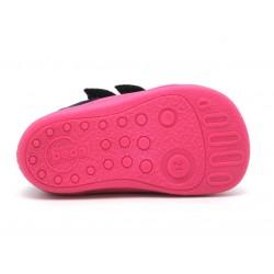 Boots fourrées bébé marine rose