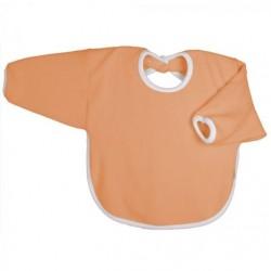 Bavoir coton bio avec manches Orange