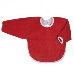 Bavoir coton bio avec manches Rouge