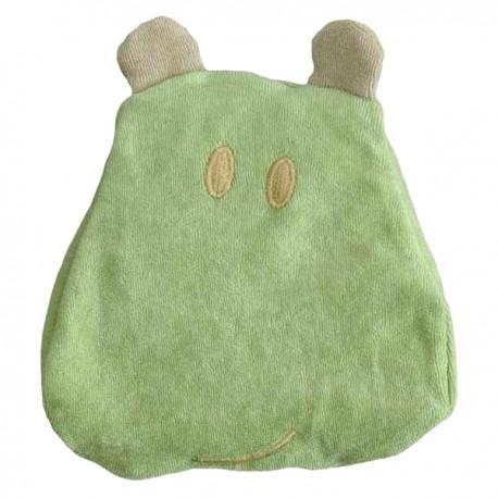 Bouillotte en tissu éponge Hippo Vert