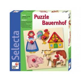 Puzzle bois ferme
