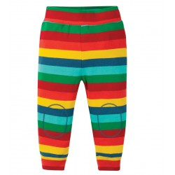 Pantalon coton bio Rayé 3-6 Mois