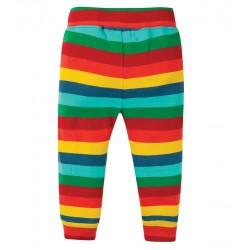 Pantalon coton bio Rayé