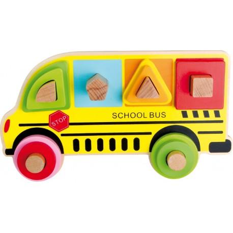 Jeu à emboîter Bus scolaire