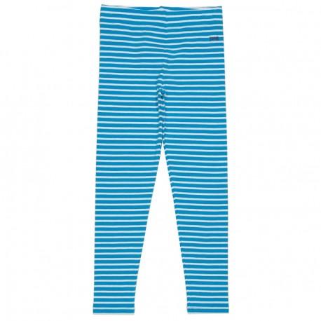 Leggings coton bio Rayé Bleu