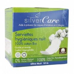Serviettes Hygiéniques Nuit Silvercare