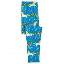 Leggings coton bio Licorne Bleu