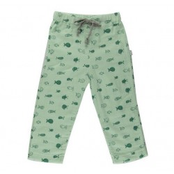 Pantalon coton bio Poisson