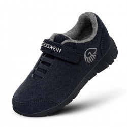 Merino Wool Runner Kids Dark Blau
