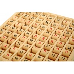 Table de multiplications en bois