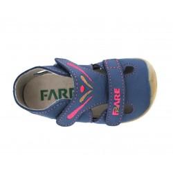 Fare Bare Sandales Cuir Bleu