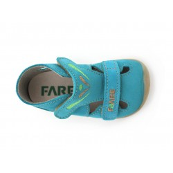 Fare Bare Sandales Cuir Turquoise