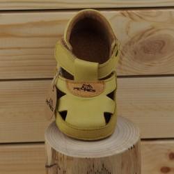 sandales souples jaunes