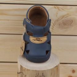 Sandales Cuir Souples Marine