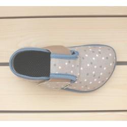 Barefoot en toile Blue Dots