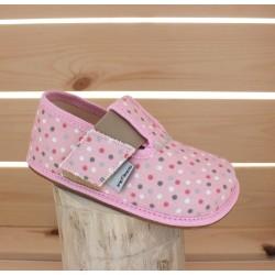 Barefoot en toile Pink Polka