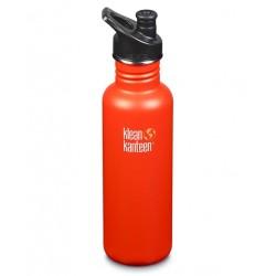 Gourde Inox orange bouchon sport 800 ml
