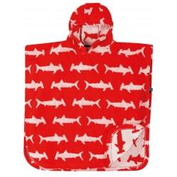Poncho coton bio Bébé Shark