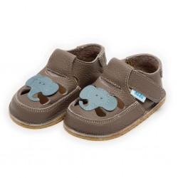 Sandales cuir souples Eléphant