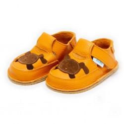 Sandales cuir souples Ours Brun