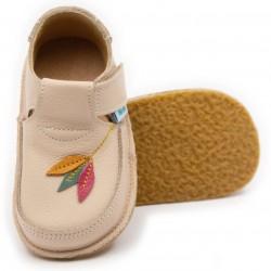 Chaussures souples cuir beige Tulipe