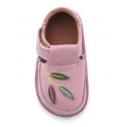 Chaussures souples cuir parme Jardin Magique