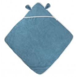 Sortie de bain coton bio Bleu