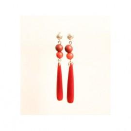 Boucles d'oreilles ivoire vegetal Ivana