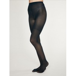 Collants Nylon recyclé Jacquard Noir