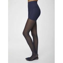 Collants Nylon recyclé Jacquard Navy