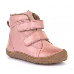 Bottines souples fourrées laine Slim pink
