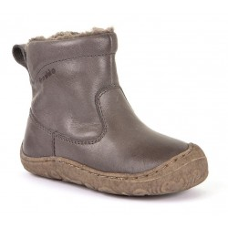 Bottines souples fourrées laine Slim grey