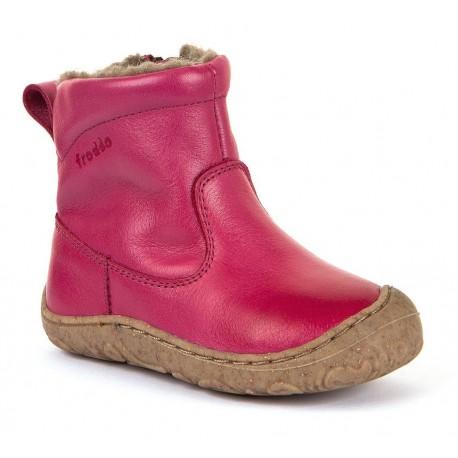 Boots souples fourrées laine Slim fuchsia