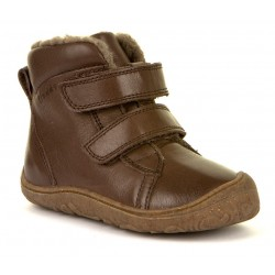 Bottines souples fourrées laine Slim brown