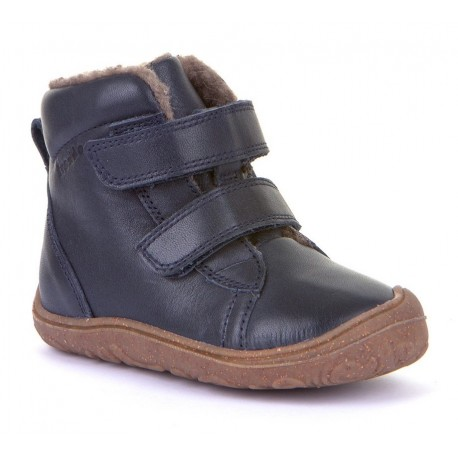 Bottines souples fourrées laine Slim dark blue