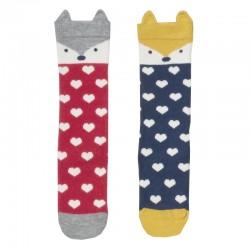 Lot 2 paires chaussettes coton bio Foxy