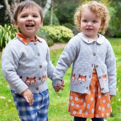 Gilet coton bio Little Fox