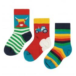 Lot 3 paires chaussettes coton bio Ferme